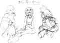 Sora, Kairi, and Riku (Concept Art).png