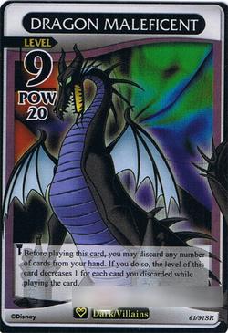 Card Dragon Maleficent Kingdom Hearts Wiki The Kingdom