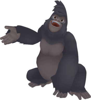 terk kingdom hearts wiki  the kingdom hearts encyclopedia app clipart ape clip art black and white